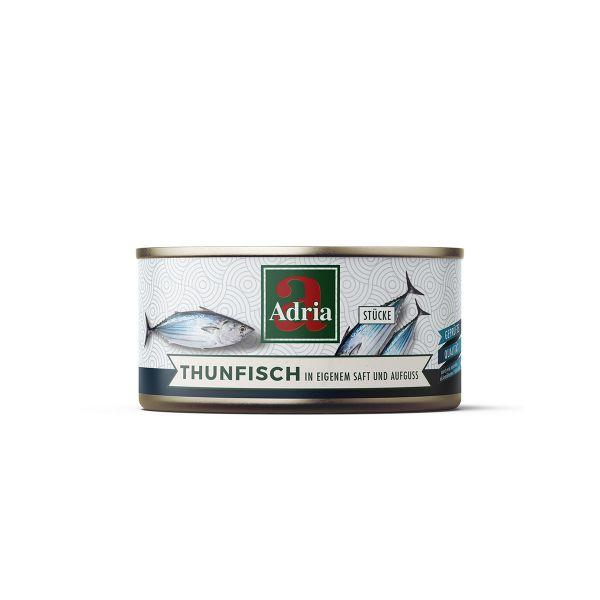 Thunfisch in eigenem Saft und Aufguss 135 g / Adria