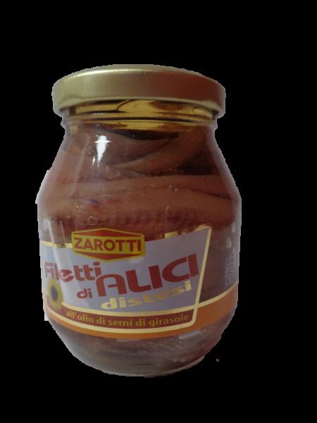 Filetti di Alici in Sonnenblumenöl 140g/Zarotti