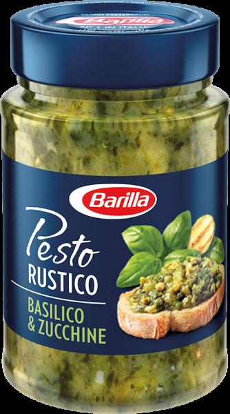 Pesto Rustico mit Basilikum und Zucchini 200g/Barilla