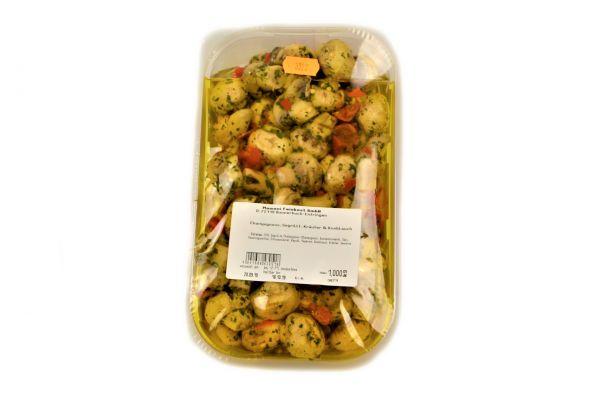 Champignons Gegrillt, Kräuter Knoblauch