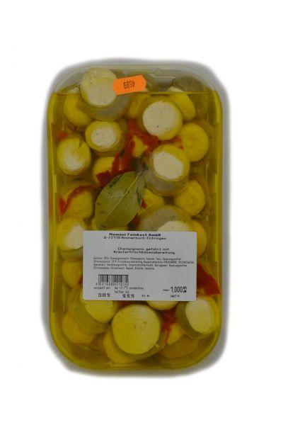 Champignons gefüllt mit Kräuterfrischkäsezubereitung