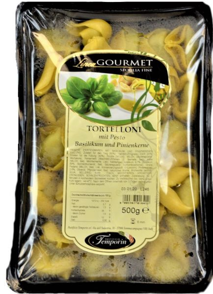 Tortelloni Pesto, Basilkum- u. Pinienkerne 500g/ Temporin