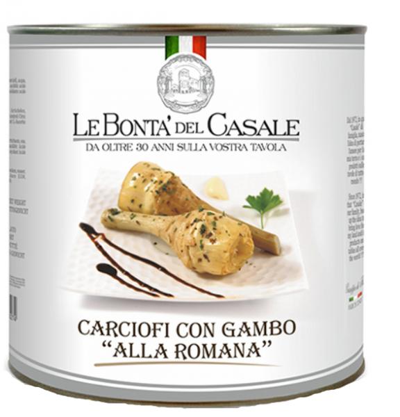 Carciofi con gambo alla Romana Dose 2650ml /Le Bonta