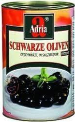Oliven schwarz ohne Stein 4250 ml/ Adria