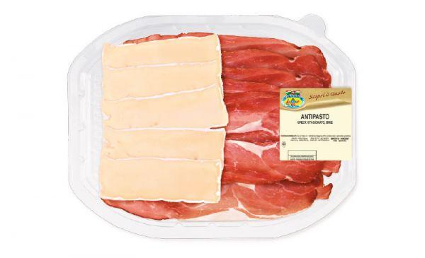 Antipasti Speck & Käse Brie 120g/Fontana Ermes