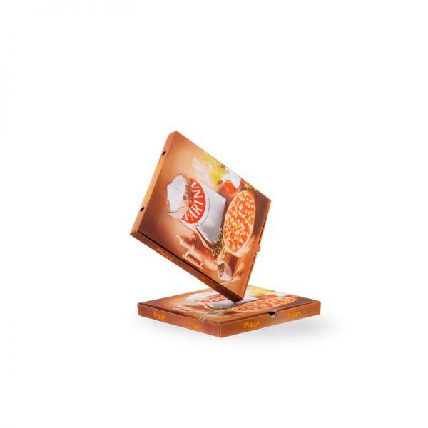 Pizzakarton 24x24x3 Amerik. 100 Stück in Packung / Borgioni