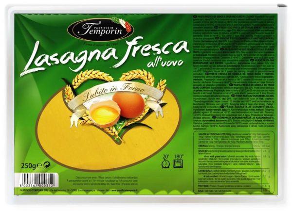 Lasagna all´uovo fresca, mit Ei frisch 250g/Temporin