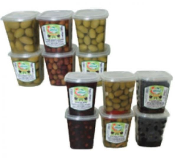 Olive Rosate '' leccino'' 450 g Schale / Attina