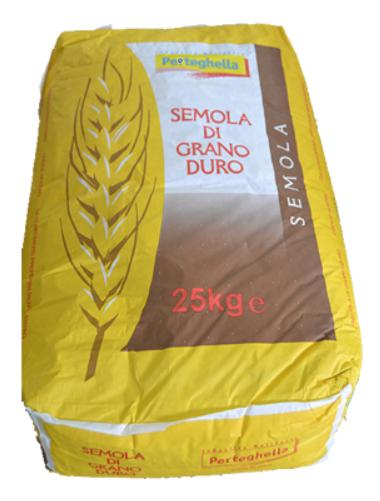Semola Grano Duro 25kg Sack/Perteghella