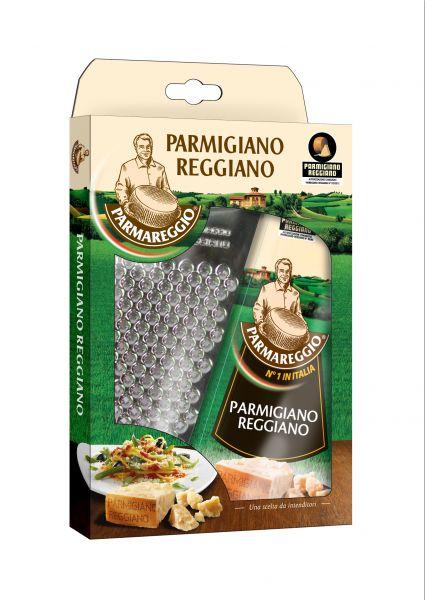 Parmigiano Reggiano Parmesankäse 12 Monate 150g mit Reibe / Parmareggio