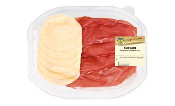 Antipasti Prosciutto Crudo & Käse Provola Dolce 120g/Fontana Ermes