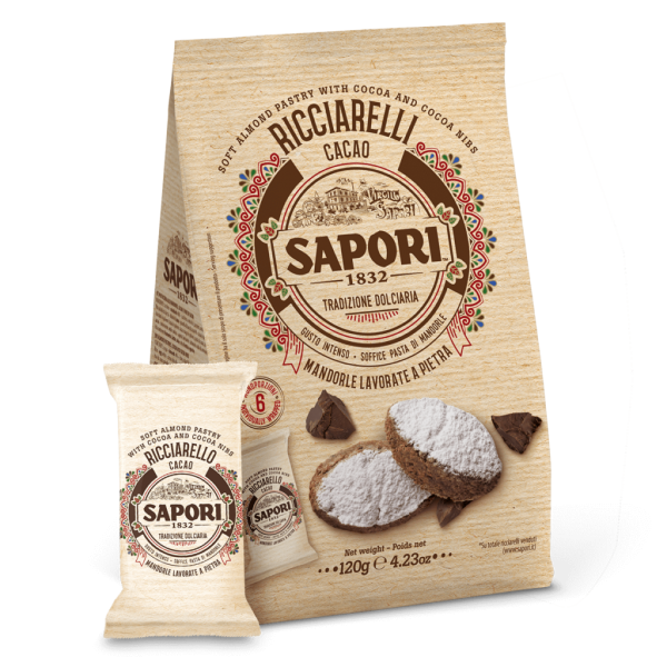 Ricciarelli Mandelgebäck Kakao 120g / Sapori