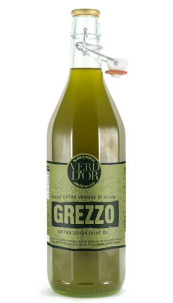 Olio extra vergine di Oliva Grezzo ungefiltert Olivenöl 1l / Verde Oro