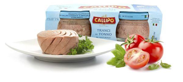 Tonno Thunfischfilets al Naturale 80gx2 Gläser/Callipo