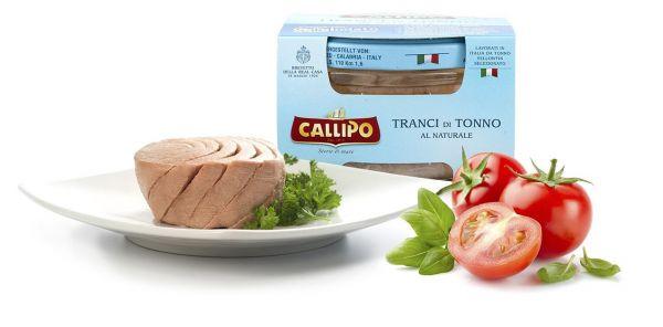 Tranci di Tonno Thunfischfilets al Naturale 160g Glas/Callipo