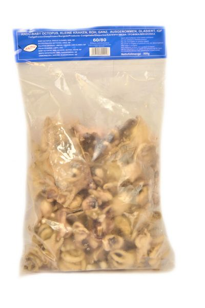 Baby Octopus 60/UP 800 g nett