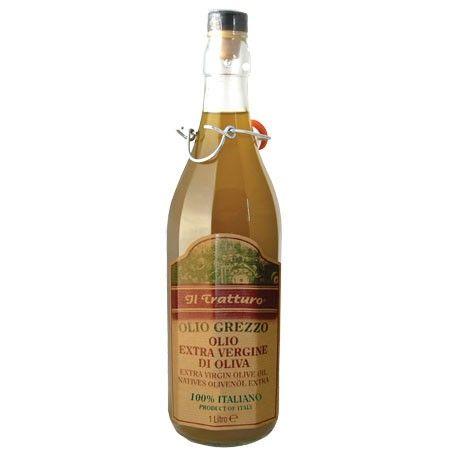 Olio Grezzo Naturtrüb 100% italienisch Olivenöl 1 Liter/Il Tratturo