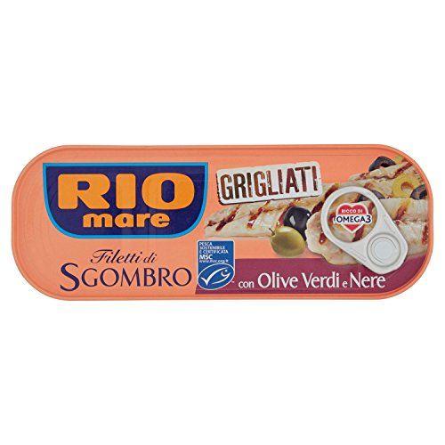 Filetti di Sgombro Grigliati con Olive e Nere Rio Mare 120g