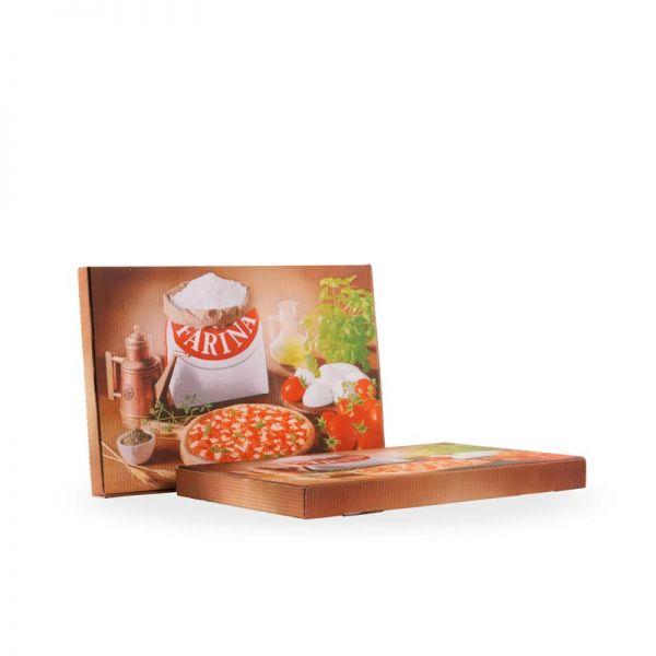 Pizzakarton 40x60x4 Amerik 50 Stück in Packung / Borgioni