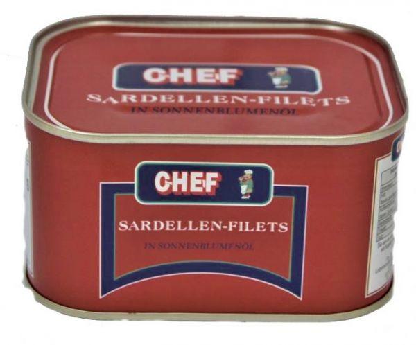 Sardellenfilet 630ml.Dose Chef