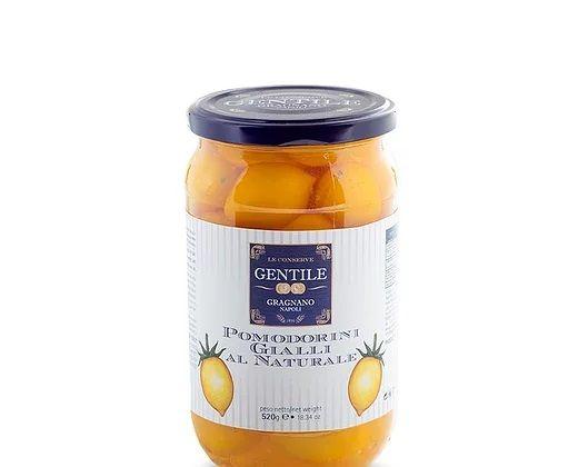 Gelbe Kirschtomaten in Salzwasser 520g/Gentile