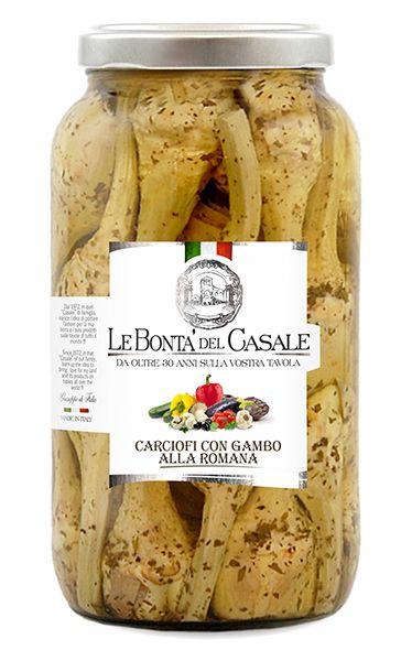 Carciofi con gambo alla Romana 3100ml/Le Bonta Del Casale