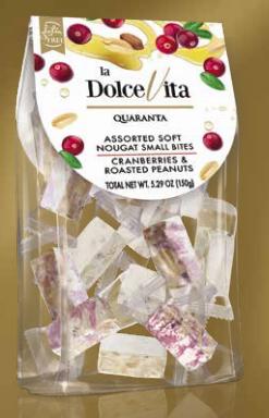 Soft Nougats Cranberries und gerösteten Erdnüssen 150g / Quaranta