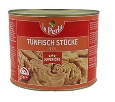 Thunfisch in Öl 2/1 Dose / La perla