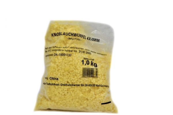 Knoblauchwürfel 4x4 mm 1kg TK